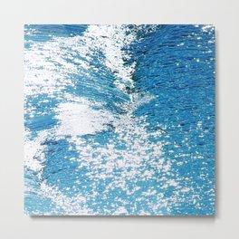 Hard Water Waves Abstract #watercolor #artprints #society6 Metal Print
