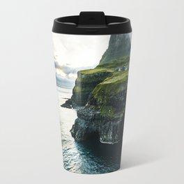 waterfall at faroe Travel Mug