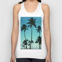 palm trees Tank Tops featuring Palm Trees by Whitney Retter