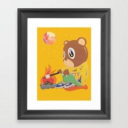 K Bear Camping Framed Art Print