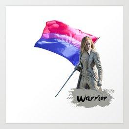 Bisexual warrior Sara Lance Art Print