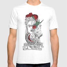 mother frida MEDIUM White Mens Fitted Tee