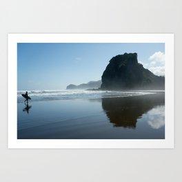 New Zealand, Piha Beach Art Print