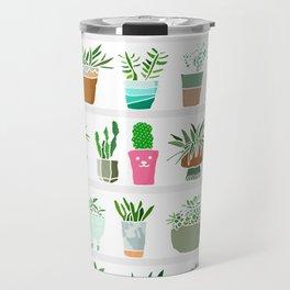 Plants on shelves. Travel Mug