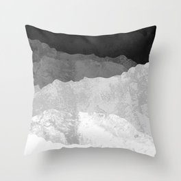 The winter grey mountains Throw Pillow