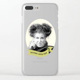 winifred Sanderson Hocus Pocus Clear iPhone Case
