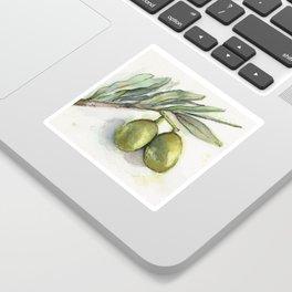 Olive Branch | Green Olives | Watercolor Illustration Sticker
