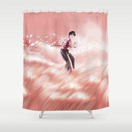 sunset duel Shower Curtain