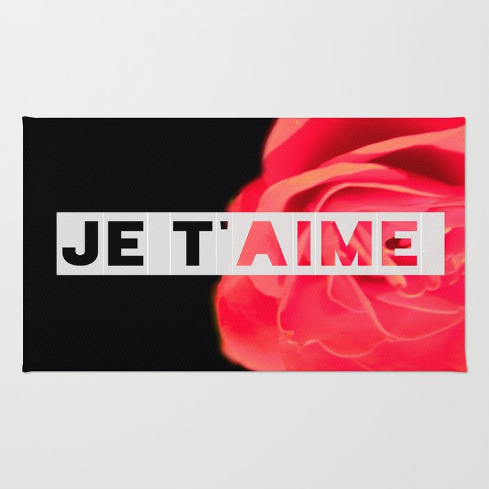 Je T Aime Rose Rug By Nickystrawberry Society6