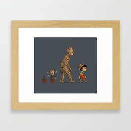 Groot - Pinocchio Framed Art Print