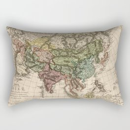 Charte van Asien (Map of Asia) 1805 Rectangular Pillow