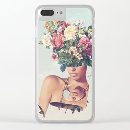 Flower-ism Clear iPhone Case