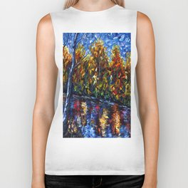 The River Song (Palette Knife Biker Tank