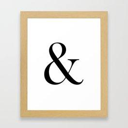 Ampersand Black Framed Art Print