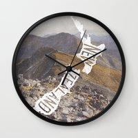 new zealand Wall Clocks featuring NEW ZEALAND by cabin supply co