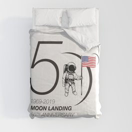 Moon landing 50th year anniversary Comforters