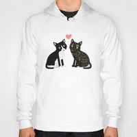 custom Hoodies featuring Custom Cats by Cassandra Berger