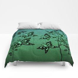 'Skullerflies in the Garden' Comforters