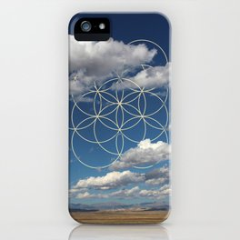 Seed of Life in Clouds iPhone Case