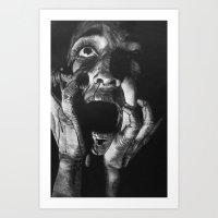 scream Art Prints featuring Scream by Twisty Artist