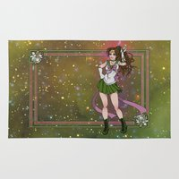 sailor jupiter Area & Throw Rugs featuring Sailor Jupiter by Teo Hoble