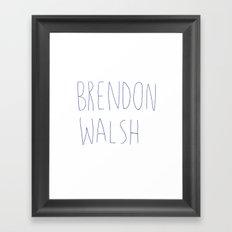 brendon walsh Framed Art Print