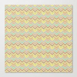 Colorful abstract modern geometrical chevron pattern Canvas Print