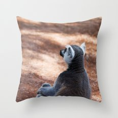 Lemur Catta III Throw Pillow