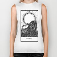 tarot Biker Tanks featuring Strength Tarot by Corinne Elyse