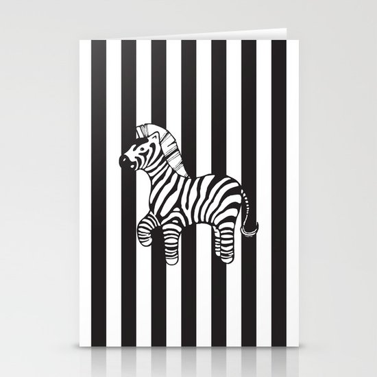 zebra stripe Stationery Cards
