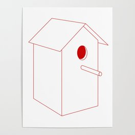 Home Sweet Birdhouse Poster