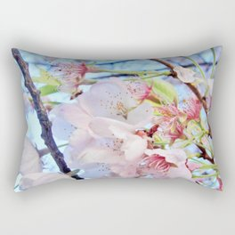 Under the Cherry Blossom Tree-picture #2 Rectangular Pillow
