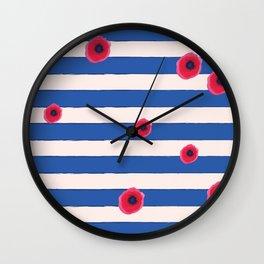 Papaveri e righe Wall Clock