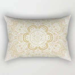 Mandala Temptation in Golden Yellow Rectangular Pillow
