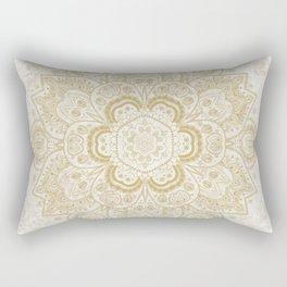 Mandala Temptation in Golden Yellow Rectangular Pillow