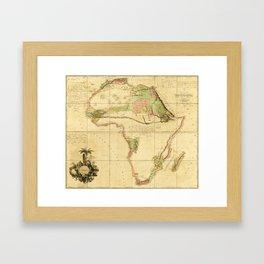 Map of Africa by Aaron Arrowsmith (1802) Framed Art Print