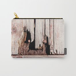 Eroded And Weathered Wooden Planks, Cracks And Chips Carry-All Pouch