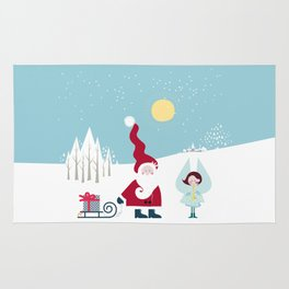 Santa and the little Angel Rug