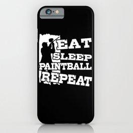 Paintball Paintball Player Paintballer Gotcha iPhone Case