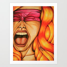 Naked Silence Art Print