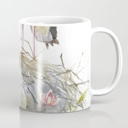 Stork Nest on a Clematis Bush Spring Mood Coffee Mug