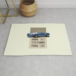 The Classic Game Cheat Code: How do you turn this on Funny Blue Cobra Car Rug