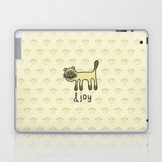 Cute Siamese Cat & Joy Doodle Laptop & iPad Skin