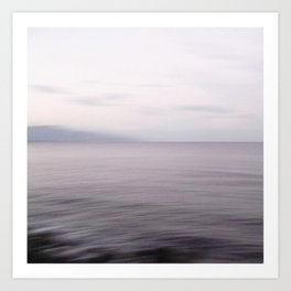 Sea Flow. Seascape with clouds Art Print