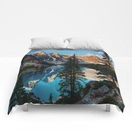 Moraine Lake Canada Comforters