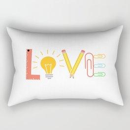 Teacher School Docent Quote | Gift Idea Rectangular Pillow