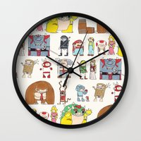 nintendo Wall Clocks featuring Nintendo Characters by Hamburger Hands