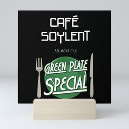 Soylent Cafe's Green Plate Special Mini Art Print