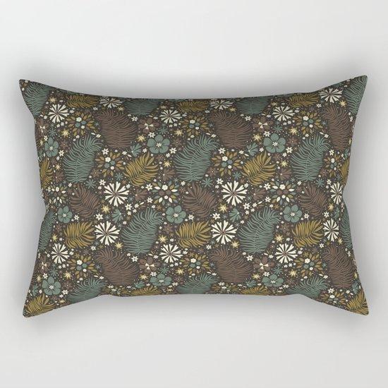 Mystical Forest (Greens) Rectangular Pillow