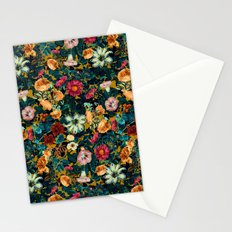 Floral Pattern Winter Garden Stationery Cards